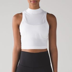 Lululemon Kitsilano White Mock Neck Tank Top 10
